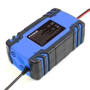 Image 3 - FOXSUR 12V 24V 8A רכב אופנוע סוללה מטען, עופרת חומצת AGM GEL רטוב חכם סוללה מטען, דופק תיקון סוללה מטען
