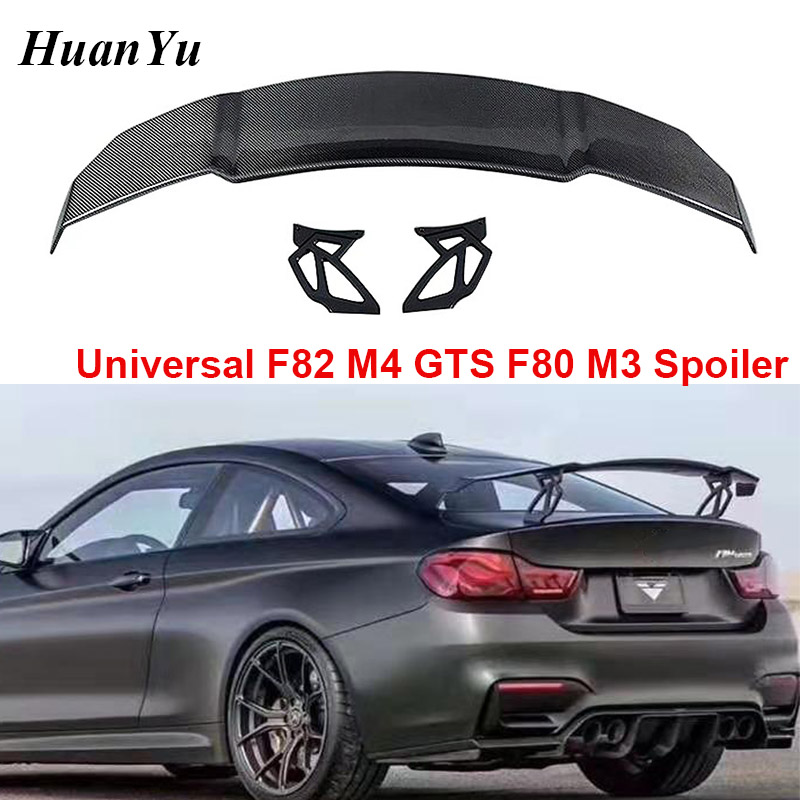 Universal F82 (M4) <font><b>GTS</b></font> V Style Trunk <font><b>Spoiler</b></font> Boot Lip Wings for <font><b>BMW</b></font> M3 F80 Carbon Fiber Rear Back Lips <font><b>Spoilers</b></font> Car Styling image