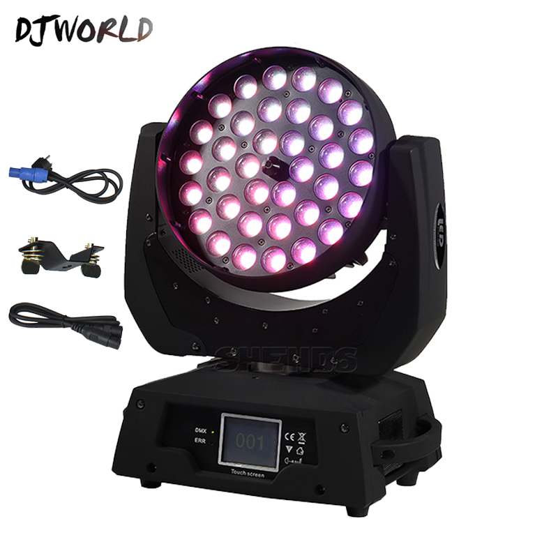 Hot-selling <font><b>LED</b></font> 36x18W Zoom <font><b>LED</b></font> <font><b>RGBWA</b></font>+UV Moving Head Zoom Wash DJ Light Render 6 Color In Hall Stage Disco <font><b>Bar</b></font> Night Club image