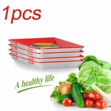 Creative Reusable Food Plastic Preservation Tray Storage Container Fresh Microwave Cover Kitchen Camping Item