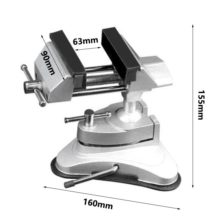 360 Degree Rotary Adjustable Table Vise Fixed Frame Sucker Clamp Adjustable Table Vise Rotatable Alloy Benchs