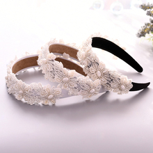 TRiXY S219-FG Pearl Wedding Headpieces Beaded Hair Band Wedding head piece for brides Baroque Hair Hoop Wedding Hair Accessories
