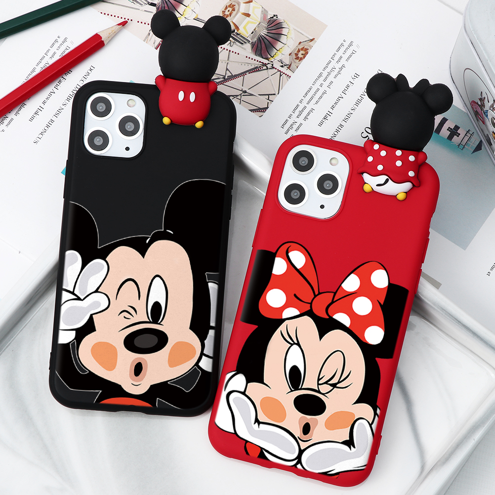 H339a0bda4eb346bd9b5a37e5d50644e82 - Cartoon Couple Fashion Case For iPhone XR 11 Pro XS Max X 5 5S Silicone Matte Cover For iphone 7 8 6 S 6S Plus 7Plus Case Girls