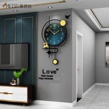 Meisd 2020 Новые поступления кварцевые часы маятниковые настенные