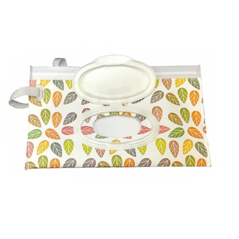 Детская сумка для влажных салфеток, тонкая бумажная практичная сумка для путешествий, портативный клатч, чехол для переноски, многоразовый, экологичный, сумка - Цвет: Style 1