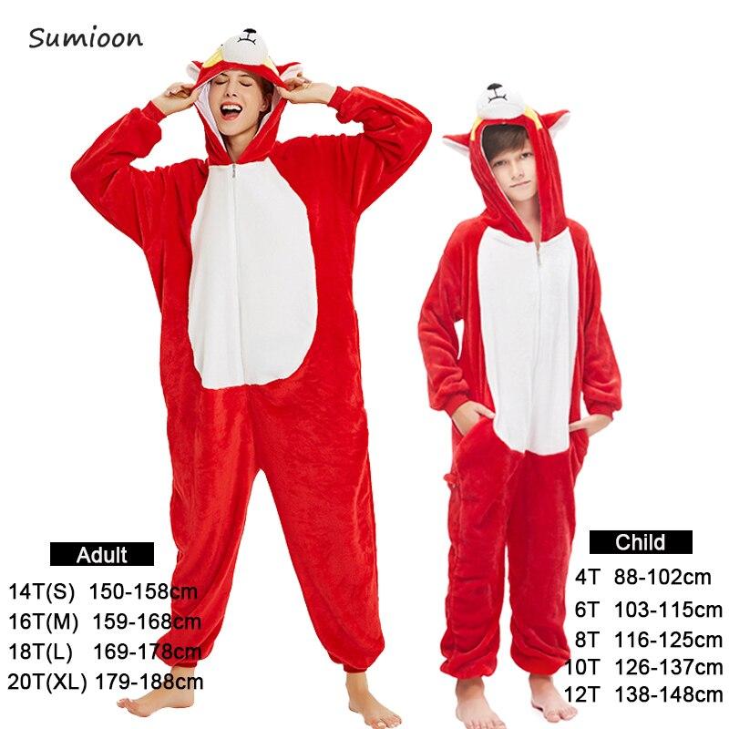 New Unicorn Pajamas Onesie Women Kigurumi Panda Winter Flannel Pajama Kigurumi Adult Nightie Stitch Unicornio Sleepwear Overalls