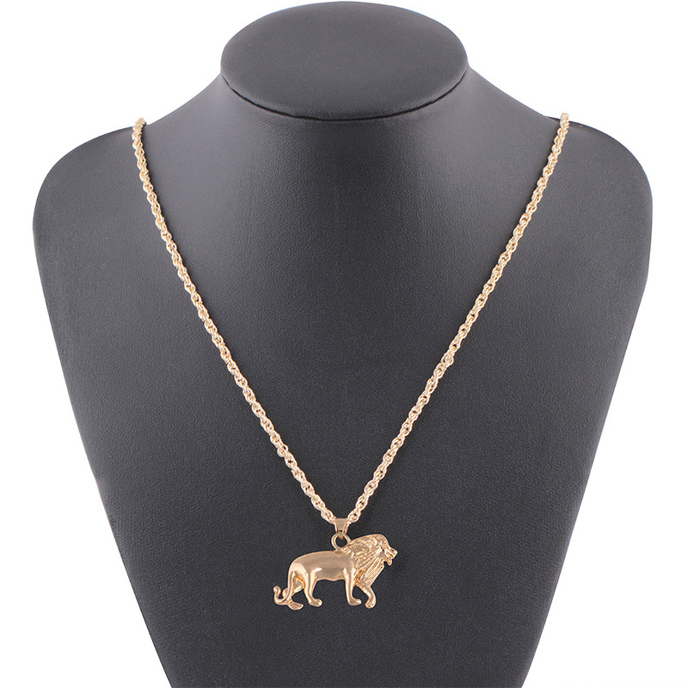 OTOKY New necklace women Golden Lion Gold Chain Head Bib Necklace Pendant Lion Choker Jewelry chokers necklaces for women 2019