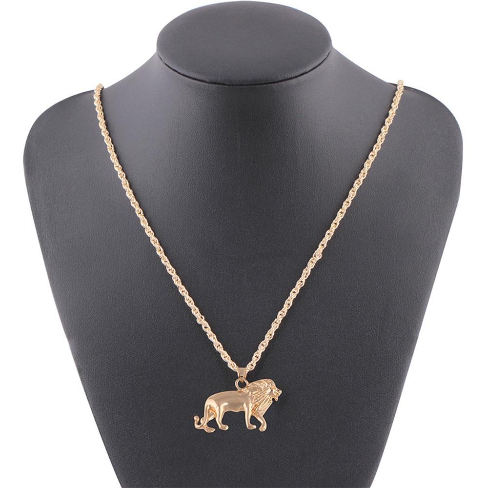 OTOKY New necklace women Golden Lion Gold Chain Head Bib Necklace Pendant Lion Choker Jewelry chokers necklaces for women 2019