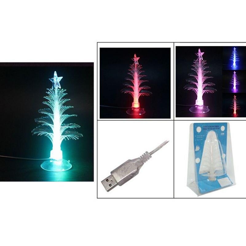Arbre de noël LED veilleuses décoration de la maison couleur changeante veilleuses à fibres optiques - 4