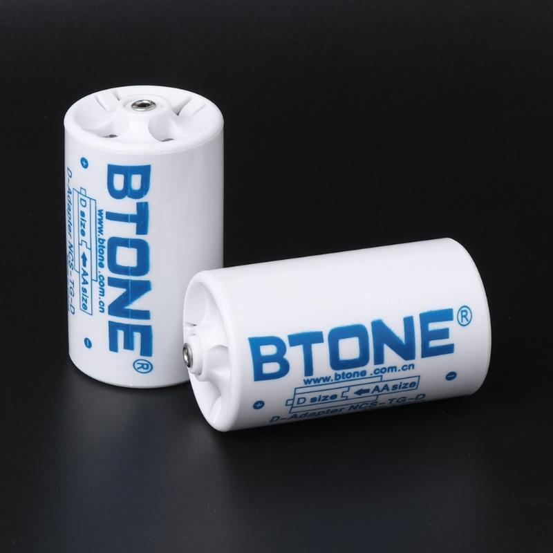 4pcs Battery Box 3x AA to D Size Battery Adapter Converter Holder Switcher Case