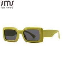 Lunettes de soleil carrées de luxe rétro homme et femme, de marque, de voyage, petit, rectangles, vintage, 2020