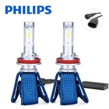 Оригинальные Автомобильные светодиодные лампы Philips h11 H8 led H16(JP), автомобильный головной светильник, лампы 6000 K, противотуманный светильник luces Led para, автомобильные диодные лампы для автомобилей