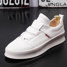 Men Casual Shoes White Shoes Fashion Breathable Slip On Men Sneakers Spring Autumn Low Shoes Thick Bottom Men Shoes Men Loafers soft slip on shoes women fashion 2019 sneakers autumn casual shoes canvas shoes women white low flat breathable skateboarding