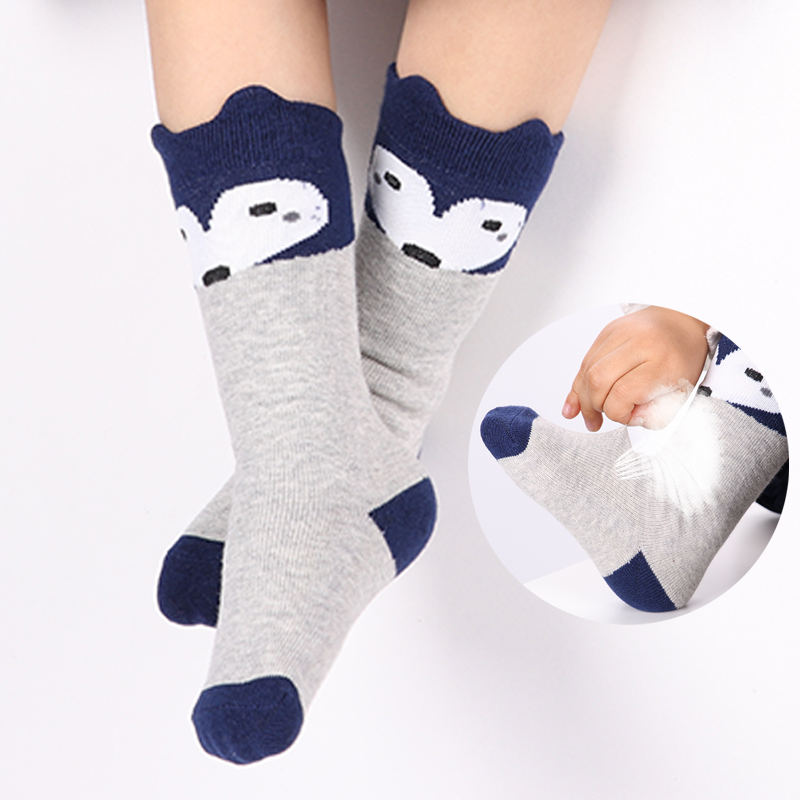 Cartoon Cute Kids Socks Bear Animal Baby Cotton Socks Knee High Long LegWarmers Cute Socks Boy Girl Children Socks Dropship