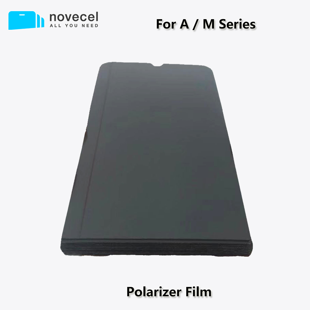 Novecel 10Pcs/lot <font><b>LCD</b></font> Polarizer Film for <font><b>Samsung</b></font> A10 A20 A30 A50 <font><b>A70</b></font> A700 A80 A90 M10 M20 M30 Screen Polarized Film Replacement image