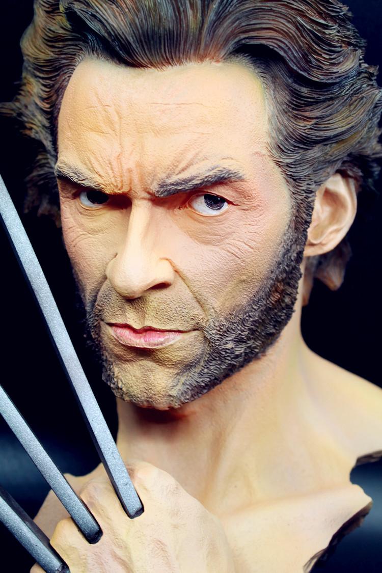 X-MAN Wolverine Superhero Logan Bust Model Resin Statue Hugh Jackman Figure