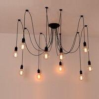 Loft Retro Spider Industrial Chandelier lamp Classic Decorative Antique Edison Bulb Light Fixture