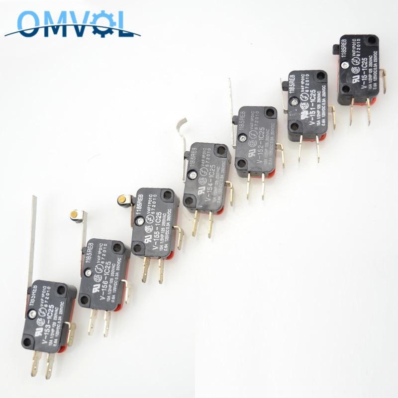 Micro Limit Switch With Roller Lever V-15 V-151 V-152 V-153 V-154 V-155 V-156-1C25