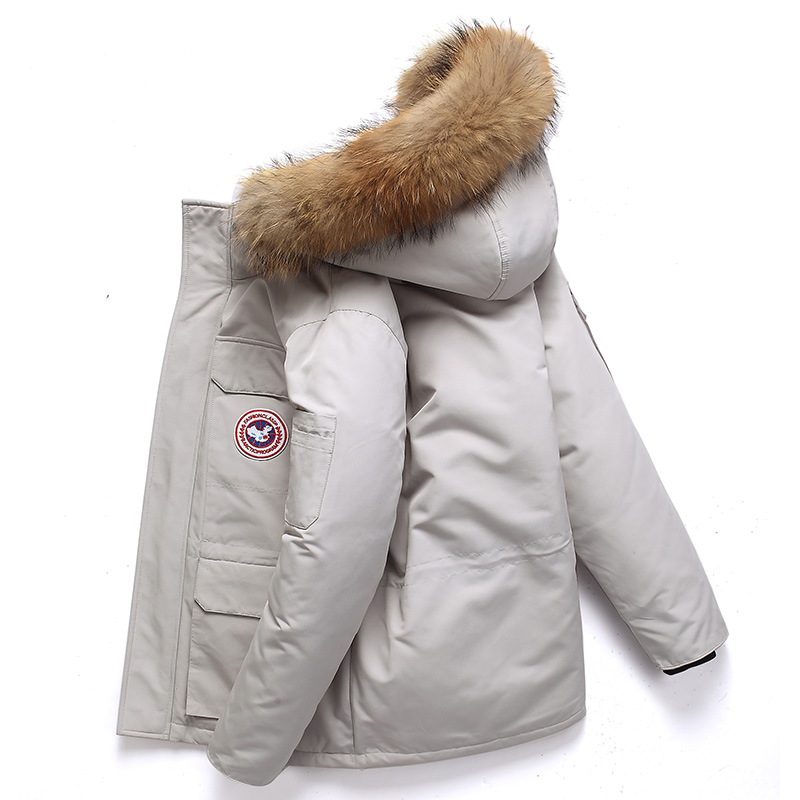 -40 Celsius Down Jacket Real Fur Collar Hooded Thick Parka Down Coat Men Winter Jackets  1