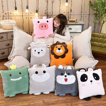 Quilt Pillows Plush-Cushion Panda Lion Kids Cute Dinosaur Pig Hamster Husky-Sheep-Decor