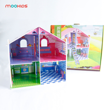 Mookids Free Shipping DIY Wooden Dolls House Miniature Box Handmade Dollhouse Furniture DollHouse Accessories For Kids