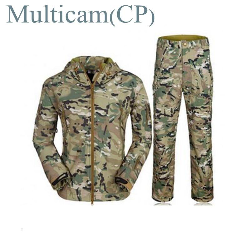 Мужская Защитная Военная униформа, охотничья одежда, водонепроницаемая Боевая камуфляжная военная форма, куртка + штаны