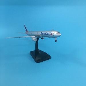 Image 2 - 20ซม.American Airlinesโบอิ้ง777เครื่องบินสหรัฐอเมริกาB777เครื่องบินรุ่น16ซมโลหะเครื่องบินDiecastรุ่นของเล่น