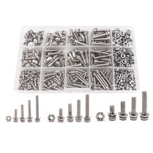 360-Pack 12 Sizes Phillips Pan Head Machine Screws Bolts Nuts Lock Flat Washer Assortment Kit, Carbon Steel, M3 M4 M5(China)