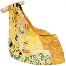 Чистый Шелковый шарф, женский шарф, поцелуй, Шелковый Хиджаб, шарф для волос, бандана,, женский головной платок, квадратный известный шелковый шарф с рисунком