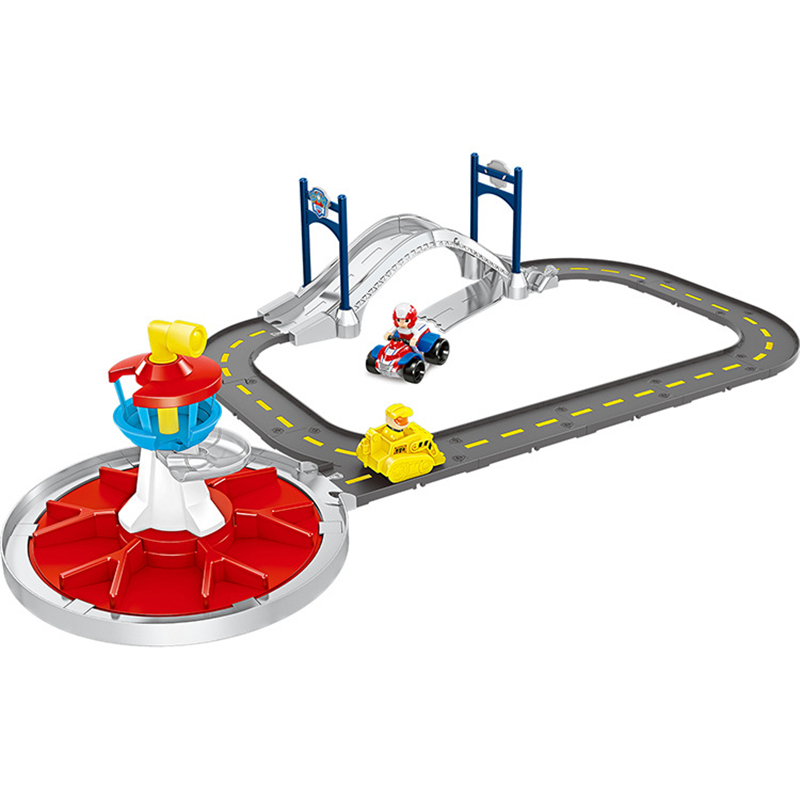Paw Patrol Dog Lookout Tower Track Rescue Base Toys Set Ryder Rubble Anime Action Figures Model Kids Birthday Best Gift