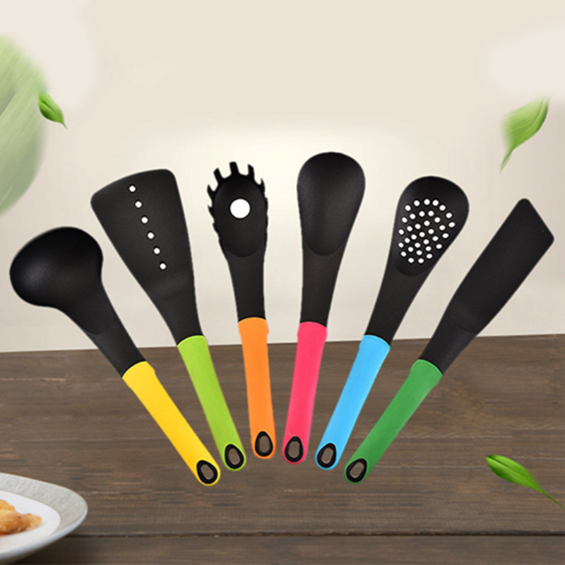 6 PCs Kitchen Nylon Kitchenware 6-Piece Non-Stick Cooking Shovel Set Kitchenware Set with Storage Box Kitchen Tools