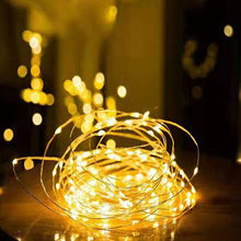 1/2/5/10M Copper Wire LED String Lights Holiday lighting Fairy Lights Christmas Garland For New Year Wedding Party Decoration(China)