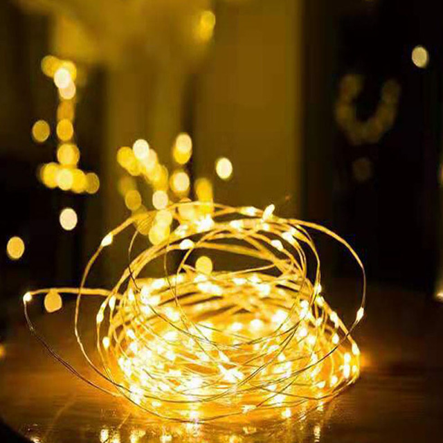 1/2/5/10M Copper Wire LED String Lights Holiday lighting Fairy Lights Christmas Garland For New Year Wedding Party Decoration