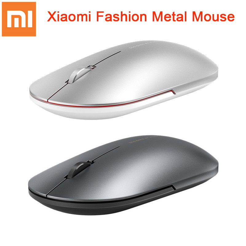 Original Xiaomi Fashion Mouse Portable Wireless Game Mouse 1000dpi 2.4GHz Bluetooth link Optical Mouse Mini Portable Metal MouseMice   - AliExpress