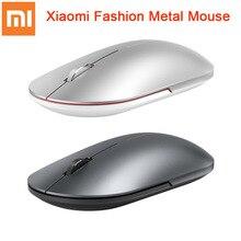 Originale Xiaomi Del Mouse di Modo Portatile Senza Fili del Gioco Del Mouse 1000dpi 2.4GHz collegamento Bluetooth Mouse Ottico Mini Metallo Portatile Del Mouse