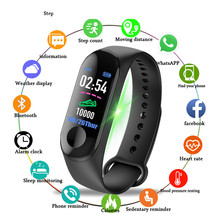 2019 New Smart Watch Men Women Sport Bracelet Bluetooth Camera Heart Rate Blood