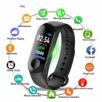 2019 nuevo reloj inteligente para hombres y mujeres, pulsera deportiva con Bluetooth, cámara de ritmo cardíaco, presión arterial, Monitor de sueño, banda de podómetro