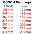 4 кольца ABS 3D автомобильный капот Передняя крышка гриль задний багажник эмблема значок Логотип для Audi A3 A4 A5 A6 Q3 автостайлинг стикер аксессуар...