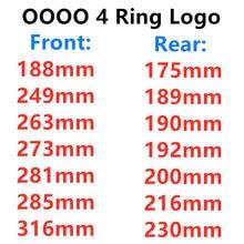 4 anel abs 3d auto capô dianteiro grill tronco traseiro emblema emblema logotipo para audi a3 a4 a5 a6 q3 estilo do carro adesivo acessórios