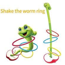 Игрушка круглая в виде червя с электрическим вибратором, интерактивная игра-кольцо, детское Метательное кольцо, круглая червь, игры, игрушк...