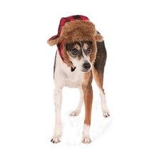 Зимняя теплая шапка для собак, красная Черная кепка для собак, ветрозащитная Защитная шапка для домашних животных