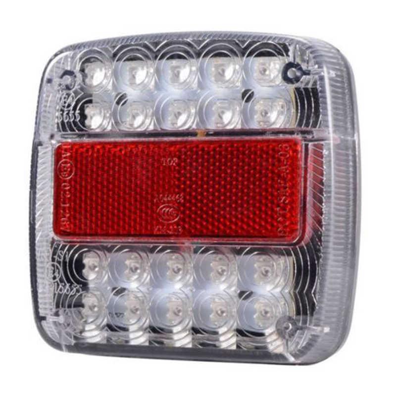 2 Pcs 12V Tahan Air Tahan Lama Mobil Truk LED Belakang Ekor Lampu Peringatan Lampu Belakang Lampu untuk Trailer Caravan Ute berkemah ATV Perahu