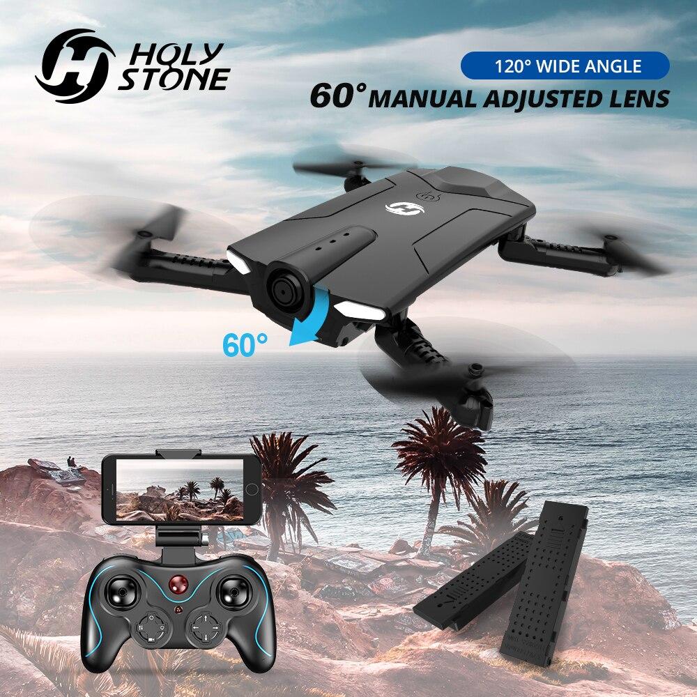 Pierre sacrée HS160 Drone RC professionnel avec caméra HD 720P FOV 120 ° grand Angle FPV en direct vidéo pliable hélicoptère quadrirotor