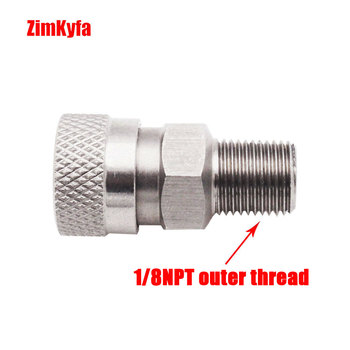 Paintball PCP Air Gun Rifle 8mm Copper/Stainless Quick Release Disconnect Coupler Fitting 1/8 NPT  Female Socket for Charging paintball airsoft air gun stainless steel female quick disconnect 1 8 npt free shipping