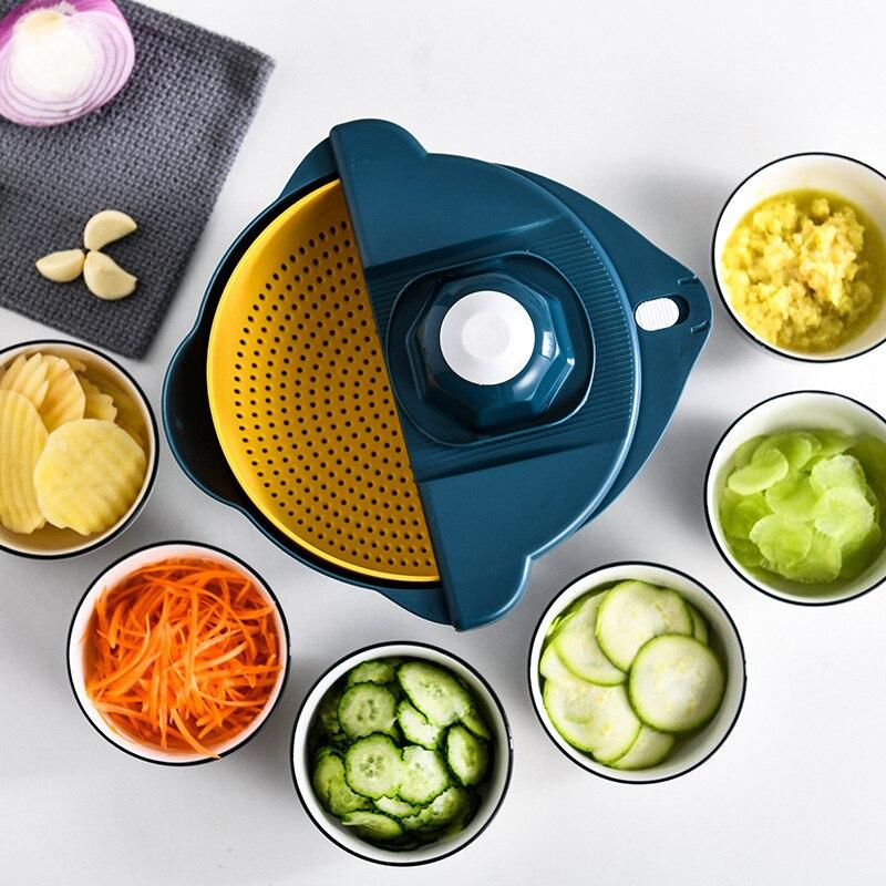 Cucina Verdure Tagliuzzate Multi-Funzione di Taglio Cibo Patata Carota Veggie Grattugia Chopper Cucina Carota Patata Utensile Da Taglio