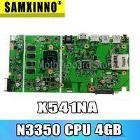 Placa base X541NA para placa base de portátil ASUS X541NA X541NA placa base X541N 100% de prueba de placa base OK N3350 CPU 4GB RAM|laptop motherboard|motherboard motherboardmotherboards laptop -