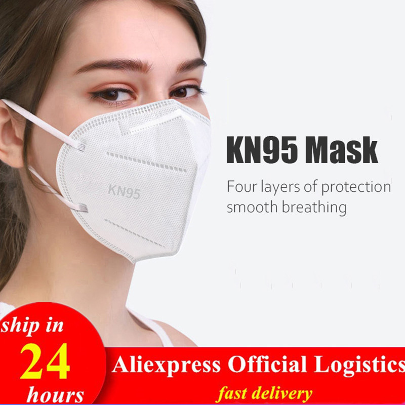 New 4 Layer KN95 Masks Anti Dust Frog KN95mask Filter KN95ffp2 Face Mouth Masks Ffp2mask PM2.5 Safety Respirator Reusable Cotton