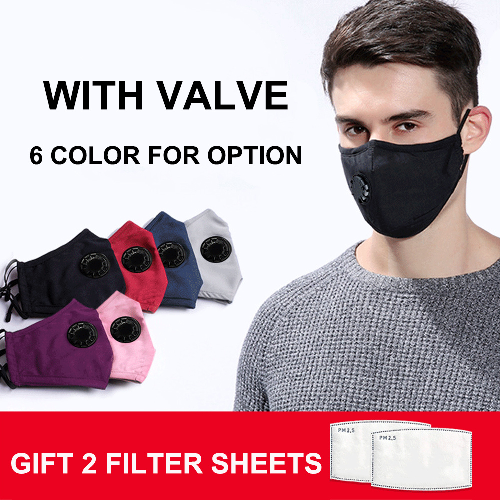 Mascherine P2 Face Mask With Valve PM2.5 Dust Filter Repeatable Washable Anti Fog Splash Proof Masque Fpp2 Mascarillas Dust Mask