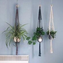 Новое поступление Подвеска для растений из макраме горшок вешалка макраме горшок лоток для растений