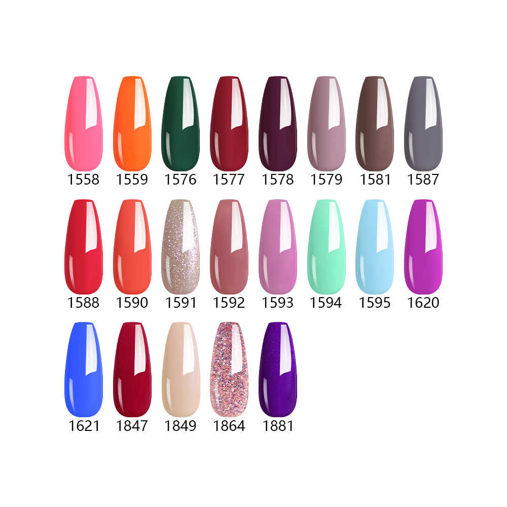 Nailco 15Ml Zomer Duidelijk Verse Fluorescentie Kleur Serie Gel Nagellak Ontwerp Nail Art Glitter Manicure Set Uv/led Nagels Gel